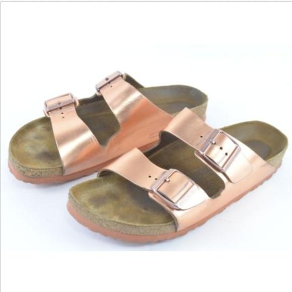 Birkenstock Arizona Womens Sandals Rose Gold 40
